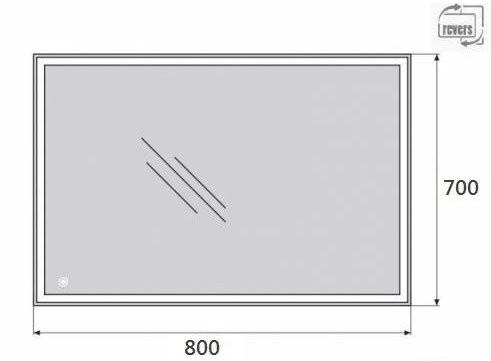 Зеркало Belbagno SPC-GRT-700-800-LED-TCH
