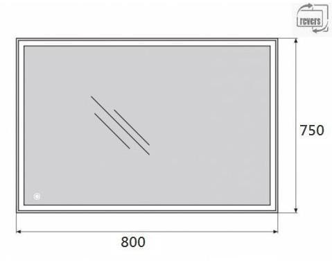 Зеркало Belbagno SPC-GRT-750-800-LED-TCH