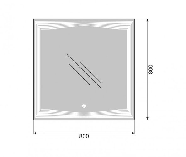 Зеркало Belbagno SPC-LNS-800-800-LED-TCH