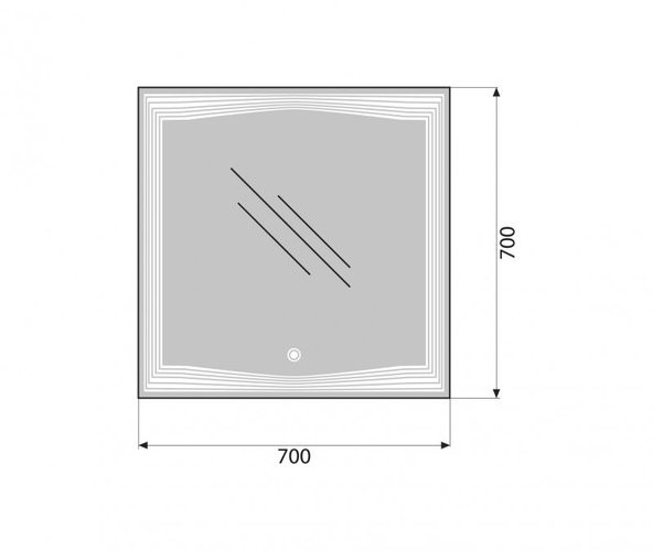 Зеркало Belbagno SPC-LNS-700-700-LED-TCH