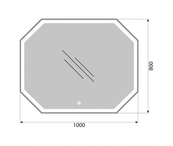 Зеркало Belbagno SPC-OTT-1000-800-LED-TCH