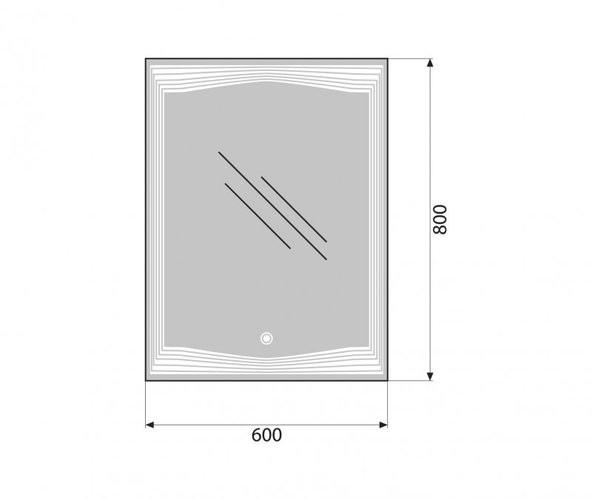 Зеркало Belbagno SPC-LNS-600-800-LED-TCH