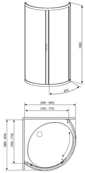 Душевой уголок Radaway Premium A 85x85x190 (прозрачное стекло)