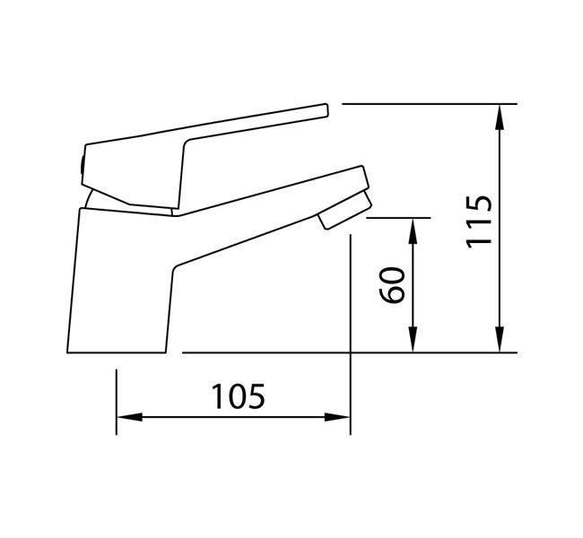 Смеситель для раковины Clever S12 Xtreme 60