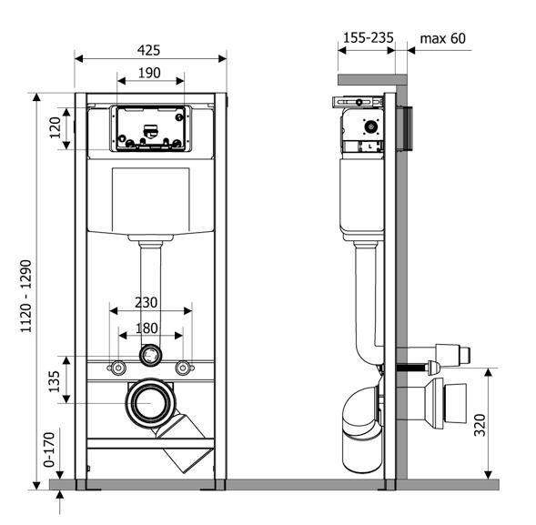 Система инсталляции для подвесного унитаза Lavinia Boho RelFix 38010010