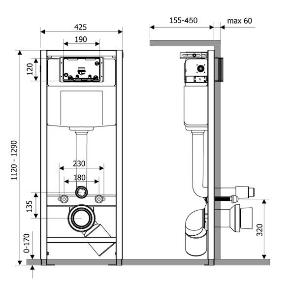 Система инсталляции для подвесного унитаза Lavinia Boho RelFix 38010020